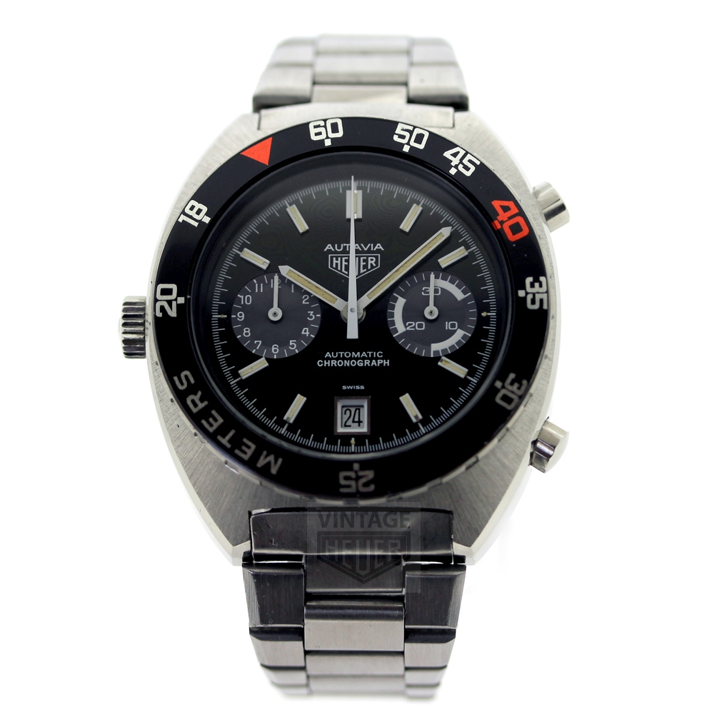 HEUER AUTAVIA WITH COMP BEZEL