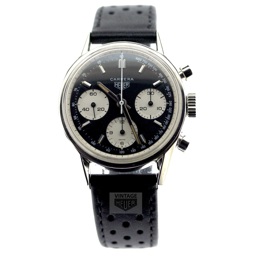 HEUER Carrera Black White Chronograph
