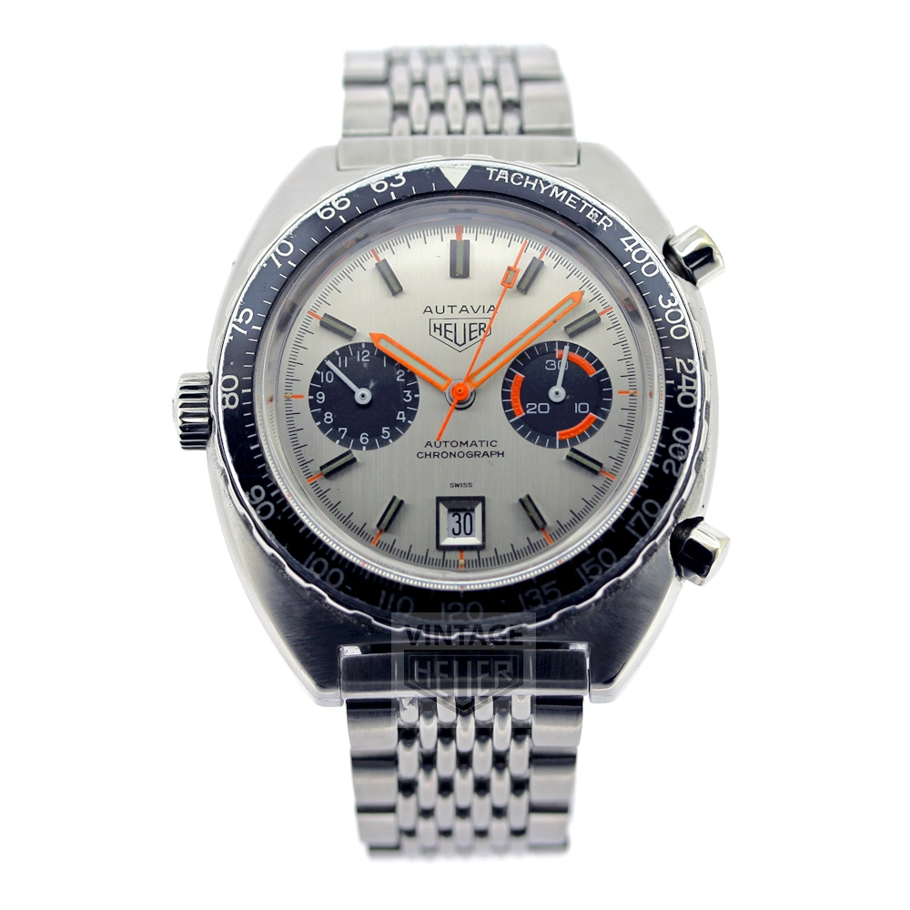 HEUER Autavia automatic chronograph silvered dial