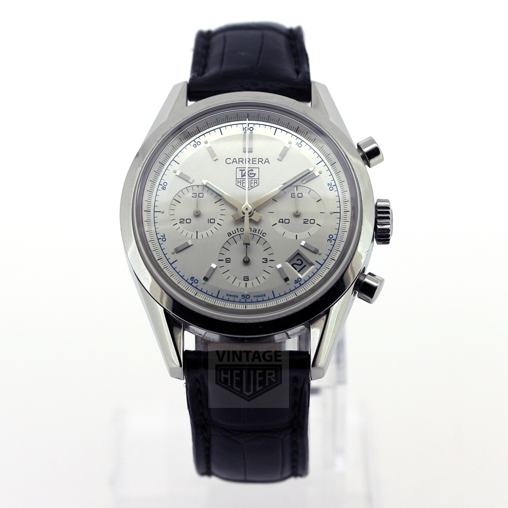 TAG HEUER Carrera Re Issue CV2110 Silver Dial Box Papers 2006
