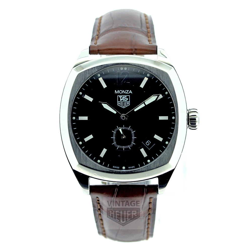 TAG HEUER Monza Black Dial Brown Strap WR 2110